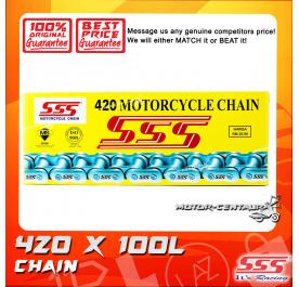 SSS CHAIN 420 X 100L