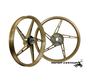 KAWA-GTO SPORT RIMS SET 588 1.40X17(F) 1.60X17(R) FOR HONDA WAVE 125 GOLD