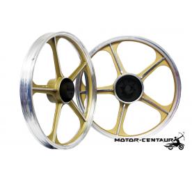 KAWA-GTO SPORT RIMS SET 555 1.40X17(F) 1.60X17(R) FOR HONDA EX5 GOLD