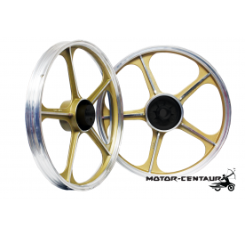 KAWA-GTO SPORT RIMS SET 555 1.40X17(F) 1.60X17(R) FOR HONDA WAVE 125 GOLD