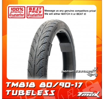 TMAX TUBELESS TYRE TM818 80/90-17