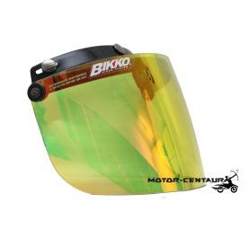 BIKKO VISOR BKK-05 CRYSTAL YELLOW, BLACK-CAP