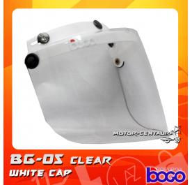 BOGO VISOR BG-05 CLEAR, WHITE-CAP