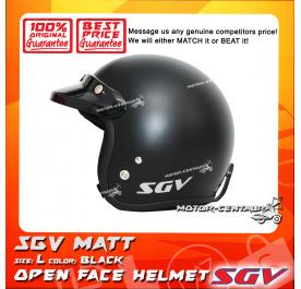 SGV HELMET MATT BLACK