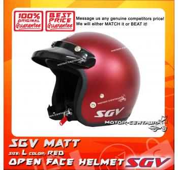 SGV HELMET MATT RED