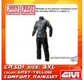 GIVI COMFORT RAINSUIT CRS01 3XL GREY-YELLOW
