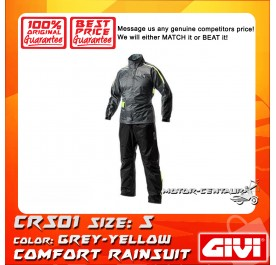 GIVI COMFORT RAINSUIT CRS01 S GREY-YELLOW