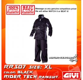 GIVI RIDER TECH RAINSUIT RRS07 XL BLACK-GREY