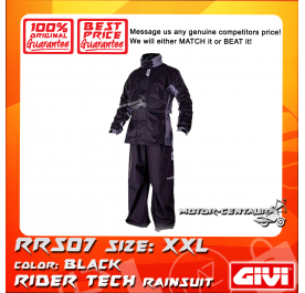 GIVI RIDER TECH RAINSUIT RRS07 XXL BLACK-GREY
