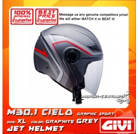 GIVI JET HELMET M30.1 CIELO XL GRAPHIC SPORT GRAPHITE GREY