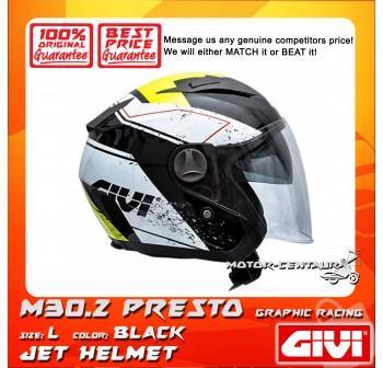 GIVI JET HELMET M30.2 PRESTO L GRAPHIC RACING BLACK