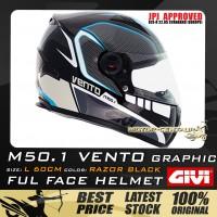 GIVI FULL FACE HELMET M50.1 VENTO L GRAPHIC RAZOR BLACK