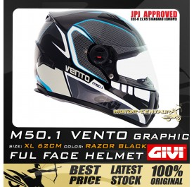 GIVI FULL FACE HELMET M50.1 VENTO XL GRAPHIC RAZOR BLACK