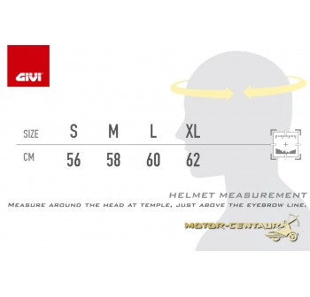 GIVI FULL FACE HELMET M50.1 VENTO L GRAPHIC LYCAN RED