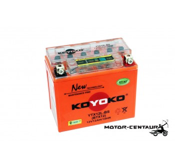 KOYOKO G2 NANOGEL BATTERY YTX12L-BS