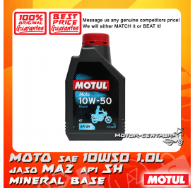 MOTUL 4T ENGINE LUBRICANT MOTO 10W50 1.0L