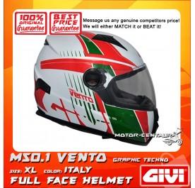 GIVI FULL FACE HELMET M50.1 VENTO XL GRAPHIC TECHNO ITALY