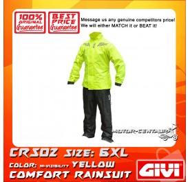 GIVI COMFORT RAINSUIT CRS02 6XL HIGH VISIBILITY YELLOW
