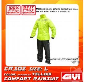 GIVI COMFORT RAINSUIT CRS02 L HIGH VISIBILITY YELLOW
