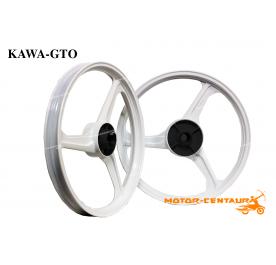 KAWA-GTO SPORT RIMS 333 1.40X17(F) 1.60X17(R) KRISS WHITE