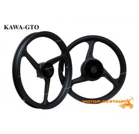 KAWA-GTO SPORT RIMS 333 1.60X17(F) 1.85X17(R) Y135LC BLACK
