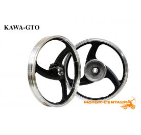 KAWA-GTO SPORT RIMS 388 1.40X16(F) 1.60X16(R) NOUVO BLACK