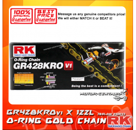 RK O-RING CHAIN GR428KROv1 X 122L GOLD PLATED (INNER & OUTER LAYERS)