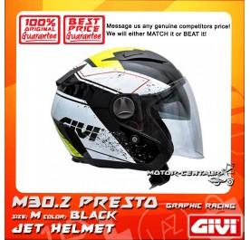 GIVI JET HELMET M30.2 PRESTO M GRAPHIC RACING BLACK