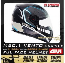GIVI FULL FACE HELMET M50.1 VENTO M GRAPHIC RAZOR BLACK