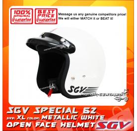 SGV HELMET SPECIAL62 METALLIC WHITE