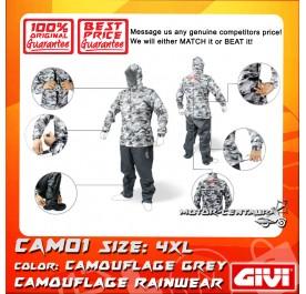 GIVI RAINSUIT CAM01 4XL CAMOUFLAGE