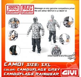 GIVI RAINSUIT CAM01 5XL CAMOUFLAGE