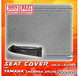 SUNOTO SEAT COVER [SOLID LEATHER] YAMAHA LAGENDA SRL115 BLACK