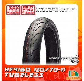 DURO TUBELESS TYRE HF918D 120/70-11