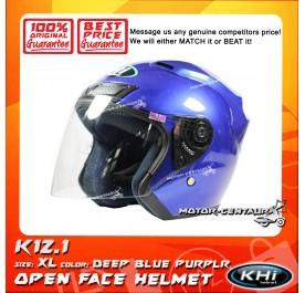 KHI HELMET K12.1 DEEP BLUE PURPLE XL