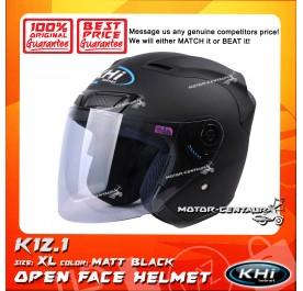 KHI HELMET K12.1 MATT BLACK XL