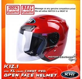 KHI HELMET K12.1 CANDY RED XL