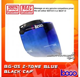BOGO VISOR BG-05 2-TONE BLUE, BLACK-CAP