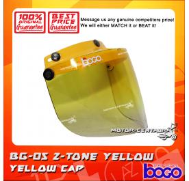 BOGO VISOR BG-05 2-TONE YELLOW, YELLOW CAP