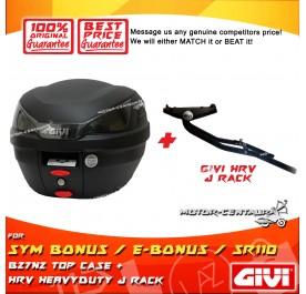 GIVI B27N2 TOP CASE + GIVI SYM BONUS / E-BONUS / SR110 HRV HEAVY DUTY RACK