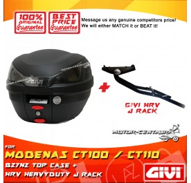GIVI B27N2 TOP CASE + GIVI MODENAS CT100 / CT110 HRV HEAVY DUTY RACK