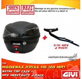 GIVI B27N2 TOP CASE + GIVI KRISS 110 120 MR1 HRV HEAVY DUTY RACK