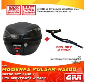 GIVI B27N2 TOP CASE + GIVI MODENAS PULSAR NS200 / NS160  HRV HEAVY DUTY RACK