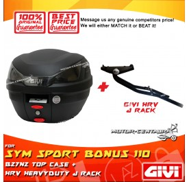 GIVI B27N2 TOP CASE + GIVI SYM SPORT BONUS 110 HRV HEAVY DUTY RACK