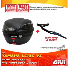 GIVI B27N2 TOP CASE + GIVI YAMAHA LC135 V2-V5 HRV HEAVY DUTY RACK