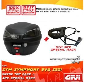 GIVI B27N2 TOP CASE + GIVI SYM SYMPHONY EVO 250I SRV SPECIAL RACK
