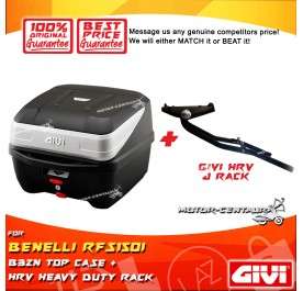 GIVI B32N TOP CASE + GIVI BENELLI RFS150I HRV HEAVY DUTY RACK