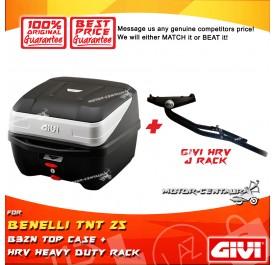 GIVI B32N TOP CASE + GIVI BENELLI TNT 25 HRV HEAVY DUTY RACK