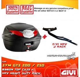 GIVI B360N TOP CASE + GIVI SYM GTS 200 / 250 HRV HEAVY DUTY RACK