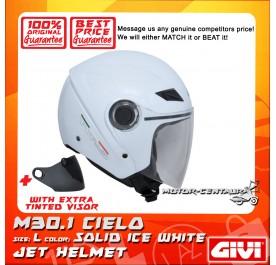 GIVI JET HELMET M30.1 CIELO L SOLID ICE WHITE + TINTED VISOR